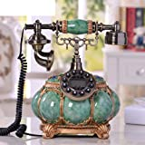 AMYDREAM Resin Retro Antique telephone Decorative,Classical Vintage Wired Antique Fixed telephone New European High-end creative landline telephone home -A 25x30cm(10x12inch) (Color: A, Tamaño: 25x30cm(10x12inch))