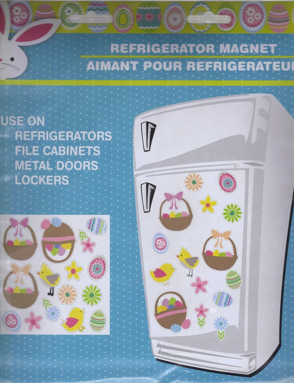 Build Your Own Easter Duck, Egg & Basket Refrigerator Magnet Sheet