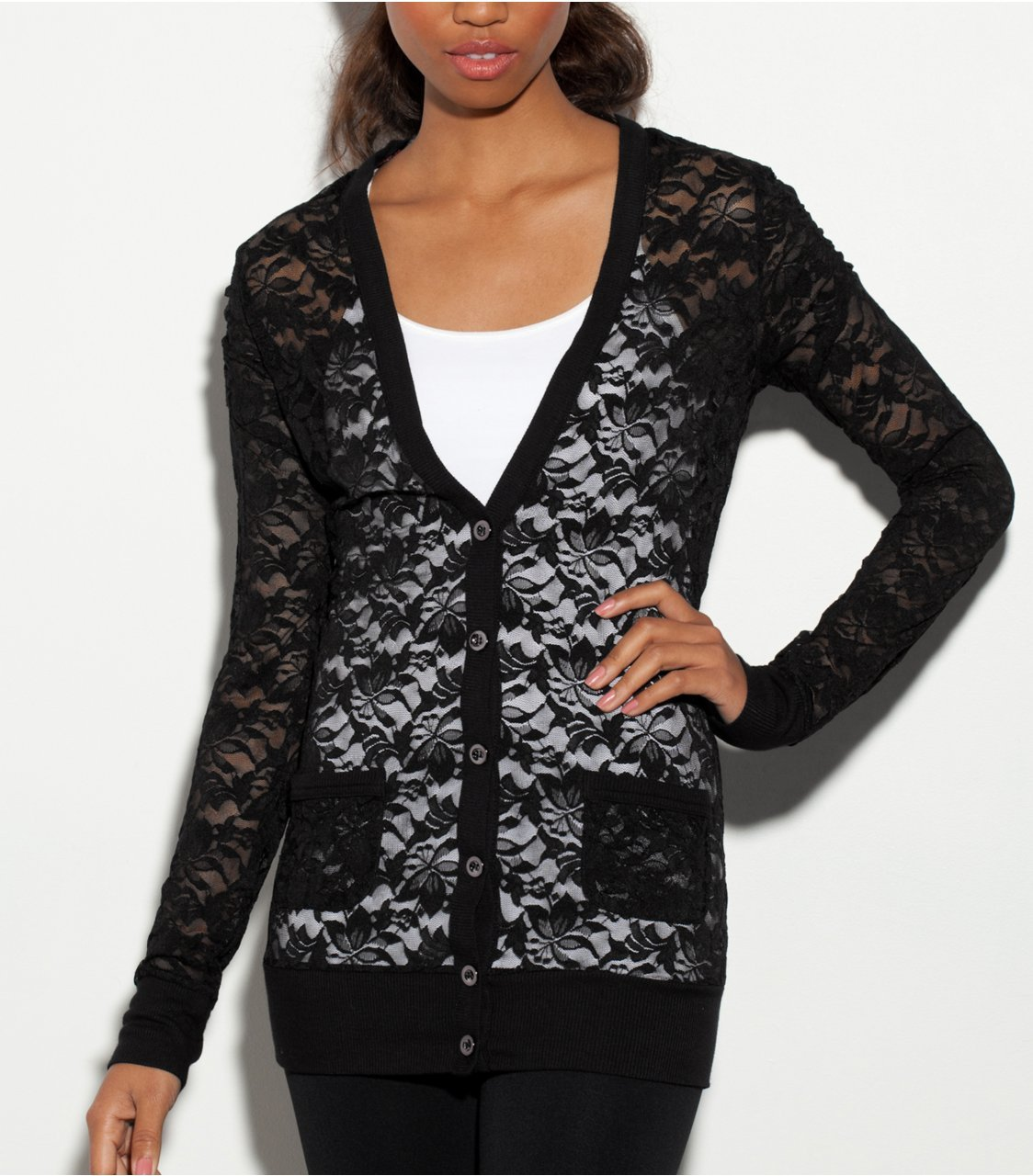 G by GUESS Kelse Lace Cardigan