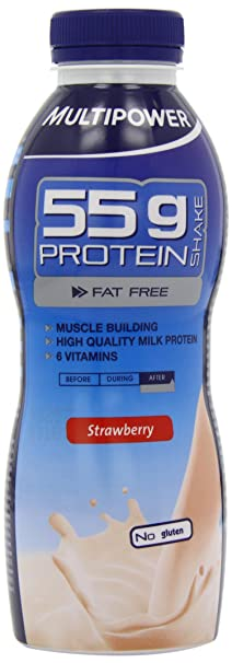 Multipower Protein Shake 55g Strawberry, 12er Pack (12 x 500 ml)