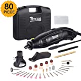 Rotary Tool TECCPO 1.5A Electric Motor 8,000-35,000RMP Variable Speed, 80pcs Accessories with Flex Shaft, Universal 3-jaw Chuck for Family Projects and Precise Work TART04P (Color: Rotary Tool 1.5Amp with 8,000-35,000RMP/80pcs Accessories, Tamaño: Corded Rotary Tool)