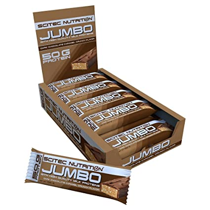 Scitec Nutrition Jumbo Bar Dark Chocolate - Caramell-Crunch, 1er Pack (1 x 1.5 kg)