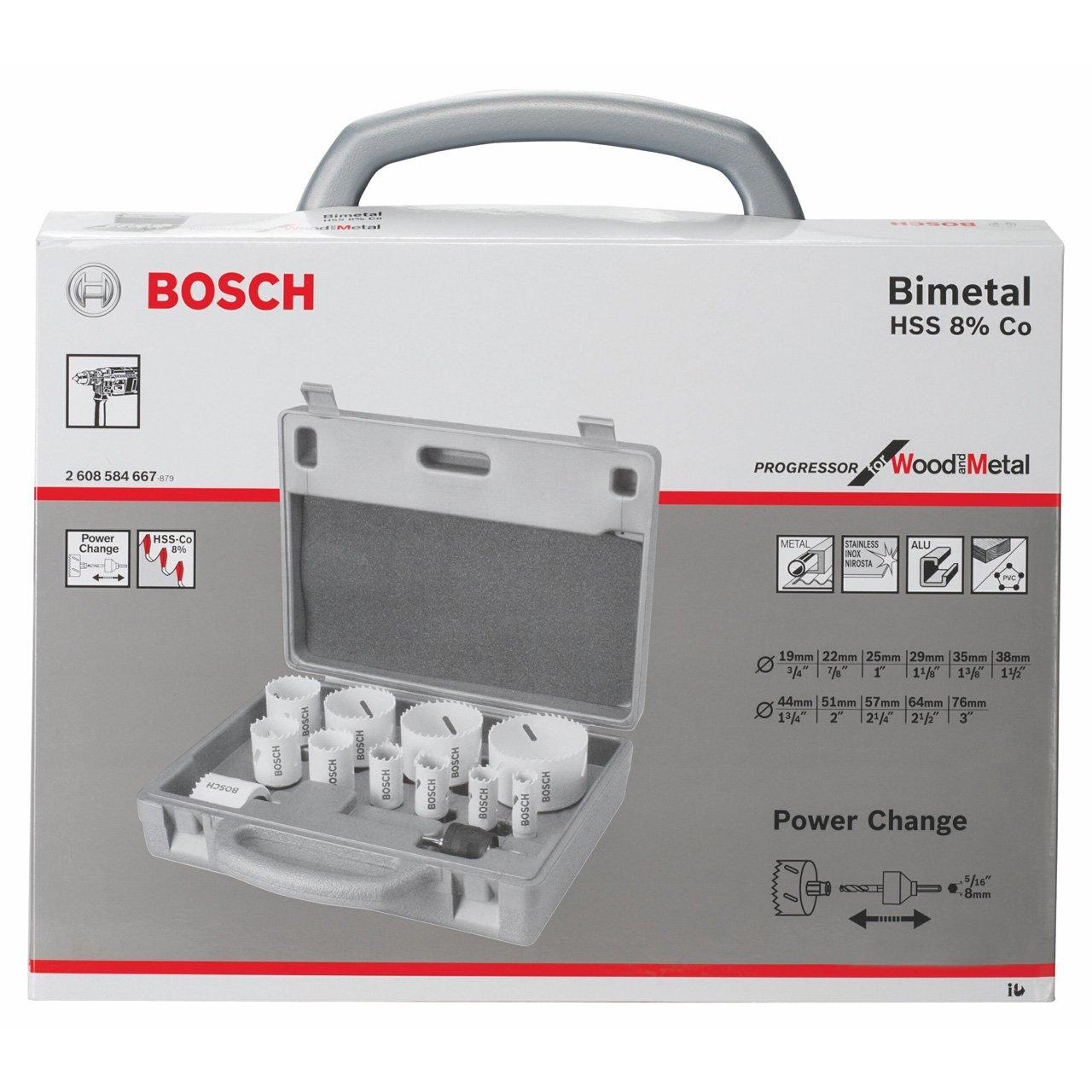Bosch Zubehör 2608584667 14tlg. LochsägenProgressorSet 19; 22; 25; 29; 35; 38; 44; 51; 57; 64; 76 mm  BaumarktÜberprüfung und weitere Informationen