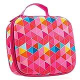 ZIPIT Colorz Big Pencil Case/Pencil Box/Storage Box, Pink (Color: Pink Triangles)