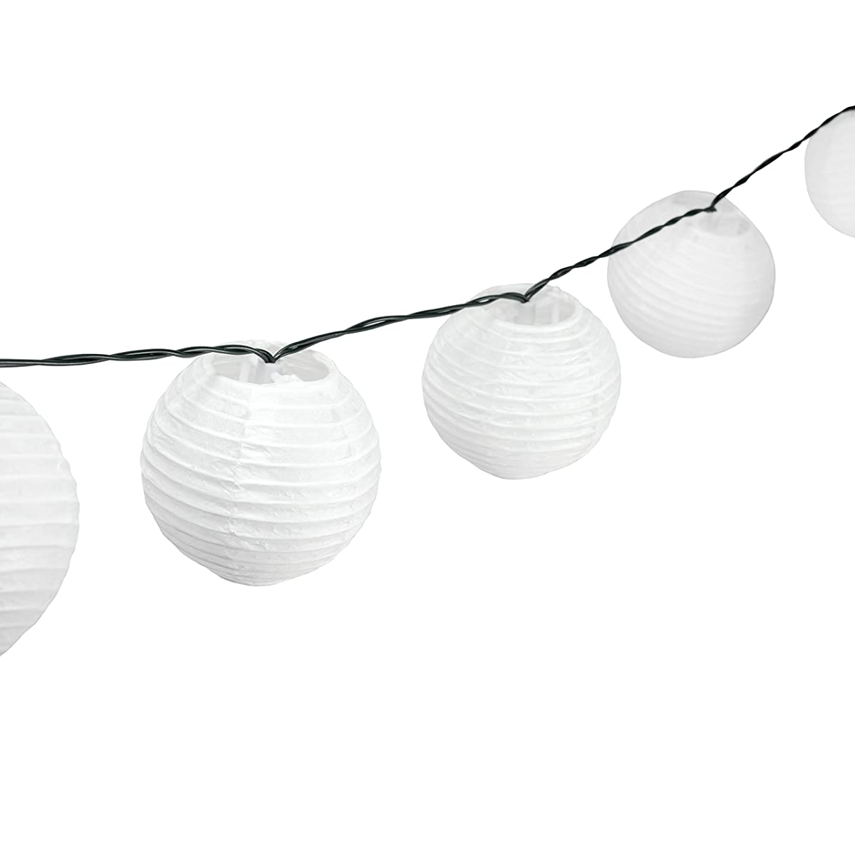 Solar Powered Lanterns String Lights - Outdoor Lighting - 25 LED Globe Lights Per String - 20 Feet