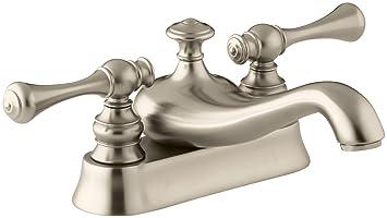 KOHLER K-16100-4A-BV Revival Centerset Lavatory Faucet, Vibrant Brushed Bronze