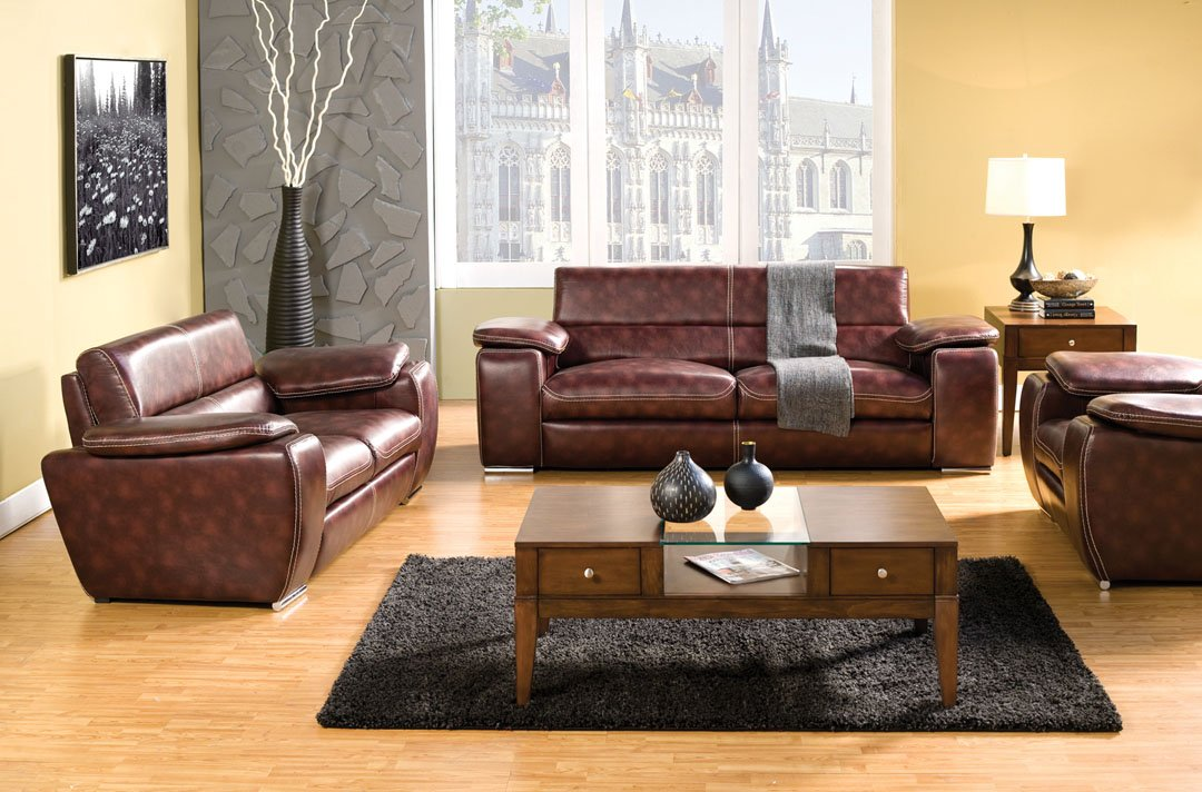 Dinar Love Seat In Dark Brown by Furniture of America