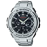 Casio Men's 'G Shock' Quartz Resin and Stainless Steel Casual Watch, Color:Silver-Toned (Model: GST-S110D-1ACR) (Color: Silver/Black)