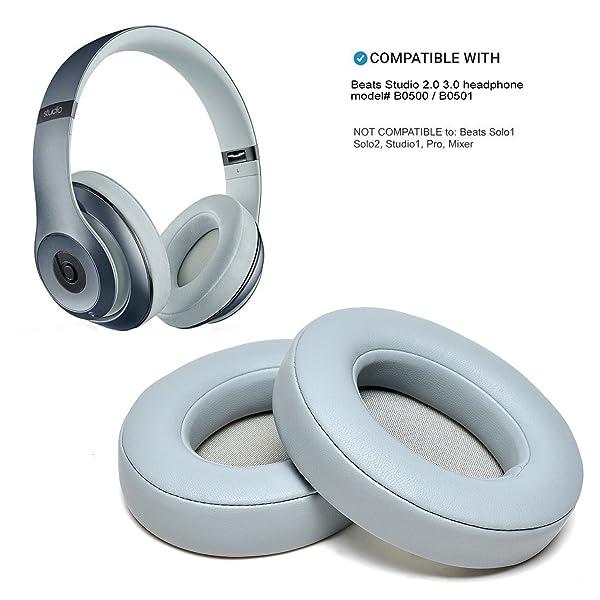 5b2e31a74ae AGPtEK Ear Pad Cushion Replacement for Beats Studio 2.0 Wired/ Wireless  B0500 / B0501 Headphone & Beats ...