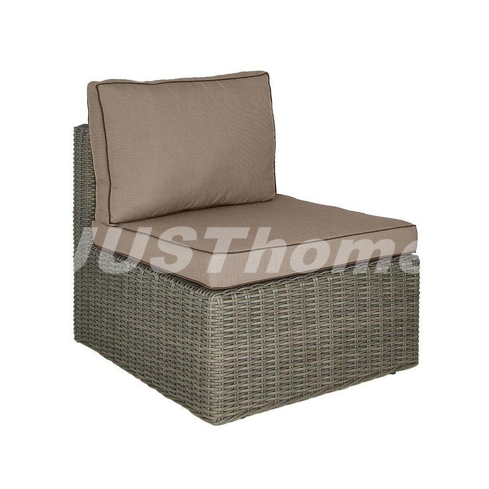 JUSThome Mittelmodul Gartenmöbel Lounge RODOS (HxBxL): 66x78x68 cm Grau jetzt kaufen