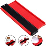 10 Inch Multi-functional Contour Gauge Plastic Profile Gauge Multifunctional Shape Duplicator Edge Shaping Measure Ruler for Professional Precise Measurement (3 cm Wider, Red) (Color: Red, Tamaño: 3 cm Wider)