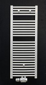 Badheizkörper weiss gebogen 1600 x 500 inklusive Mittelanschluss Heimeier Multilux Bad Heizkörper Handtuchwärmer  BaumarktKundenbewertung und weitere Informationen