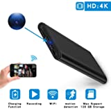 Hidden Camera Spy Mini DV - HD 4K 1080P WiFi Night Vision Motion Detection ,Smart LED Light Digital Display PowerBank Portable Compact Camera for Home (Color: H,10)