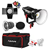 Aputure Lightstorm COB 120D 135W 6000K Daylight Balanced LED Continuous Video Light with Aputure Fresnel Lens, Barn Door, Honeycomb Grid, Color Filters and PERGEAR Cleaning Kit for Better Lighting