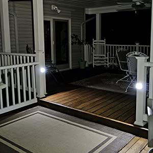 Mr. Beams MB530 Wireless Battery-Operated Indoor/Outdoor Motion-Sensing LED Step/Stair Light, White (Color: White, Tamaño: 1-Pack)