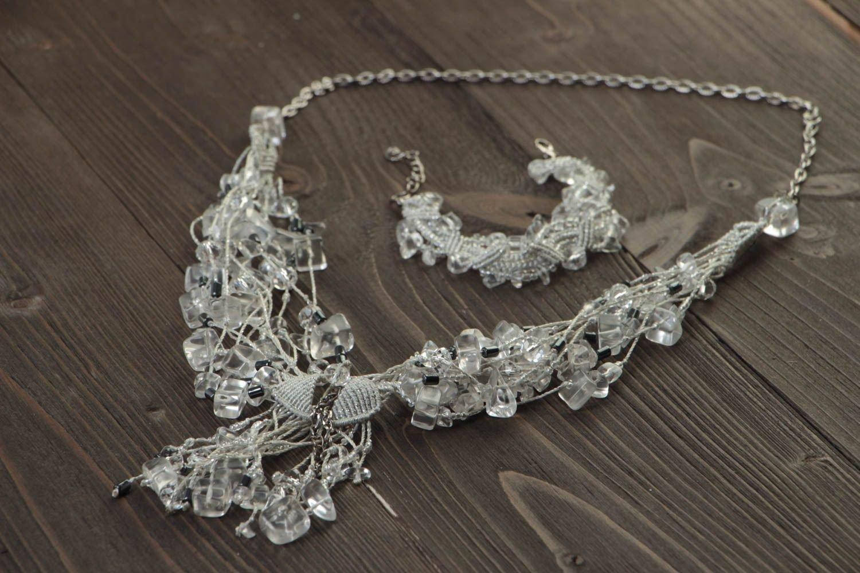 Schmuck Set handgeschaffen Damen Armband ungewöhnlich Halskette für Frauen bestellen