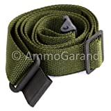 AmmoGarand M1 Garand Two Point Rifle Sling Nylon OD Green USGI (Color: OD Green, Tamaño: approx. 1-1/4
