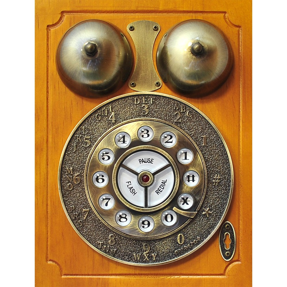 Pyle PRT45 Retro Antique Country Wall Phone - Retail Packaging - Wood 3