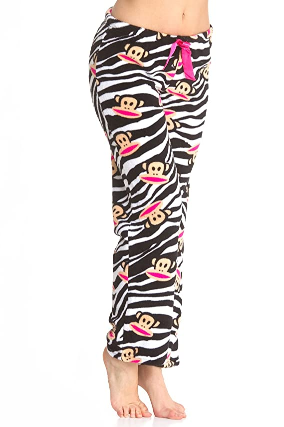 Paul Frank Women's Fleece Zebra Pajama Bottoms