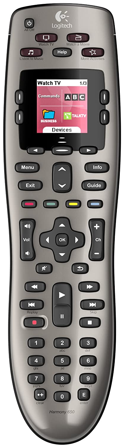 Logitech Harmony 650 Infrared Remote Control - Silver (915-000159)