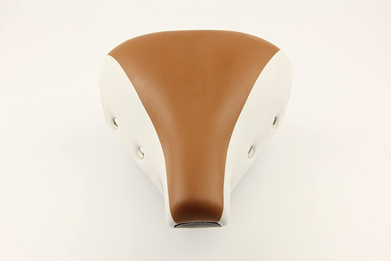 Bike Bicycle Seat Saddles Brown White Vintage Style 3