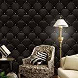 PrettyW Vintage Grid Wall Mural 3D Wallpaper for Bedroom Living Room Wall Hotel Art Decor,15.75''(W) x 9.85 ft(L)
