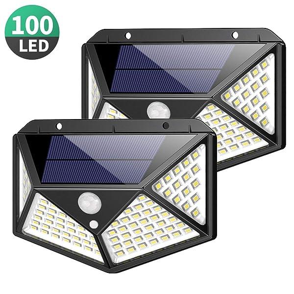 Outdoor Upgraded Lights LedFeob Solar 100 Super Motion Bright 0OXP8nwk