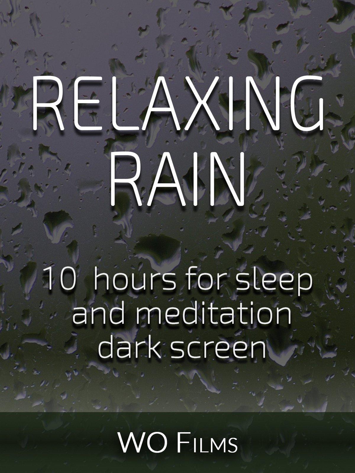 Relaxing rain, 10 hours for Sleep and Meditation, dark screen