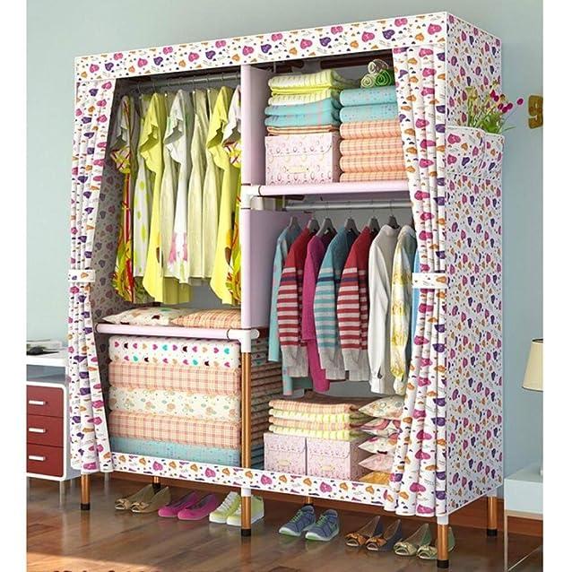 Organizzatore di stoccaggio da esterno con struttura in tessuto di puro spessore per guardaroba Oxford - portatile, staccabile, leggero e di abbigliamento, A, 66,9 '' * 51 ''