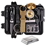 Survival Gear Kits 13 in 1- Outdoor Emergency SOS Survive Tool for Wilderness/Trip/Cars/Hiking/Camping gear - Wire Saw, Emergency Blanket, Flashlight, Tactical Pen, Water Bottle Clip ect, (Color: Survival kit-1, Tamaño: 6.6 x 4.3 x 1.9 inch ( 16.8 x 11 x 5cm))