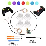 ACTMODZ Transparent Analog DIY LED Light Thumb Sticks Mod Clear Thumbsticks for PS4 Xbox One Controller 7 Colors Repair Tools