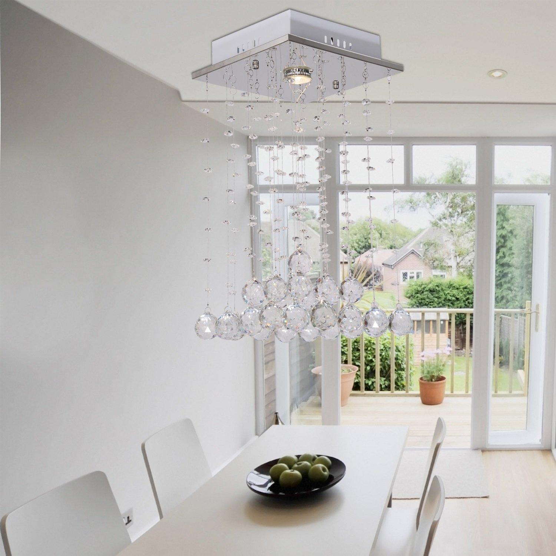 OOFAY LIGHT® Einfacher und eleganter moderner Kristallleuchter Lampe ein Restaurant Kristall-Kronleuchter hängen Draht