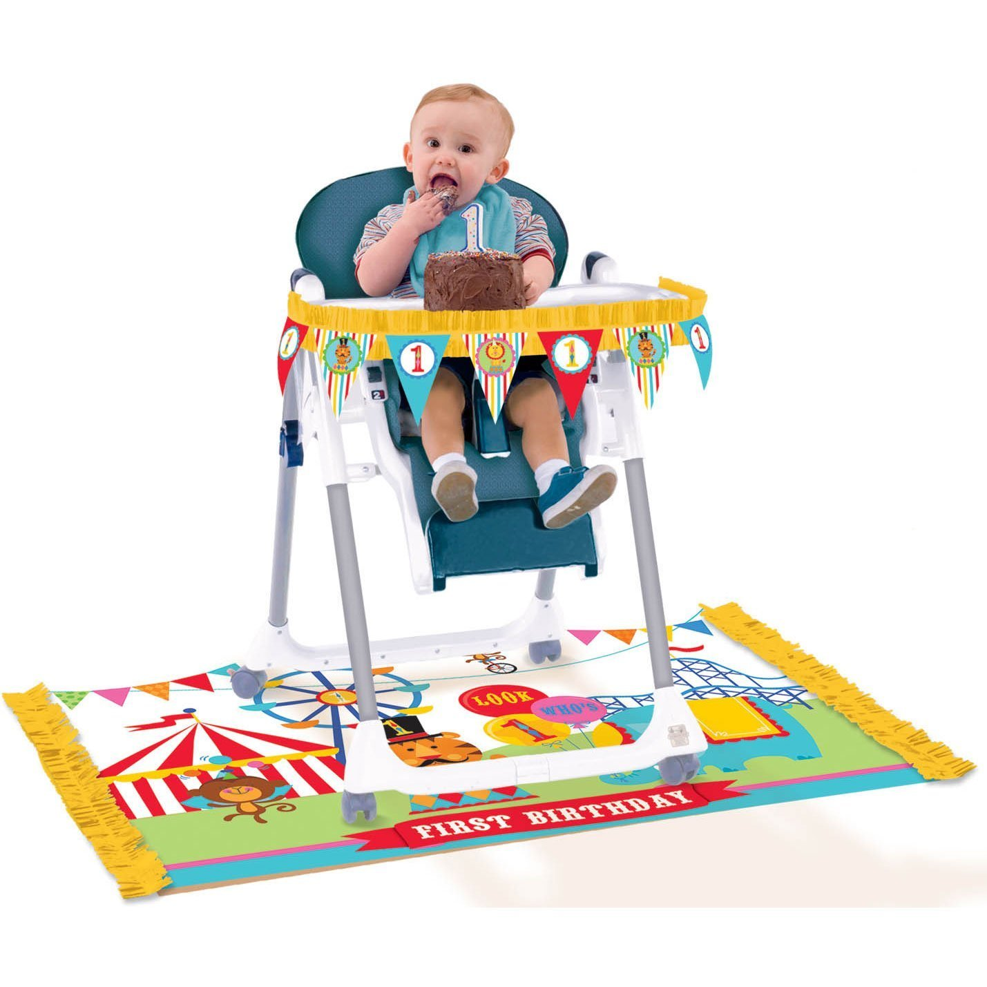 Boys First Birthday High Chair Party Kits Birthday Wikii