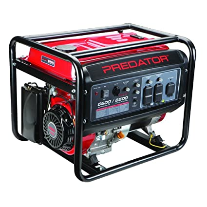 Predator Portable Generator 6500 Peak/5500 Running Watts And Generator Wheel Kit