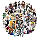 My Hero Academia Anime Cartoon Laptop Stickers Waterproof Skateboard Pad MacBook Car Snowboard Bicycle Luggage Decal 50pcs (My Hero Academia) (Color: My Hero Academia)