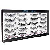 EmaxDesign 10 Pairs Fake Eyelashes, Multipack Natural 3D False Eyelashes – Fashion Eyelashes Extension For Makeup.