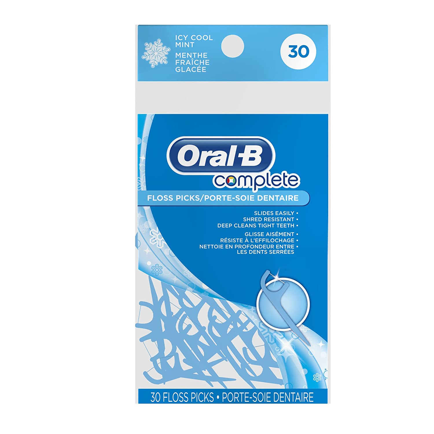 Oral B Complete ICY Cool Mint 30 Floss Picks NEW Perfect Size FOR Travel Purse | eBay