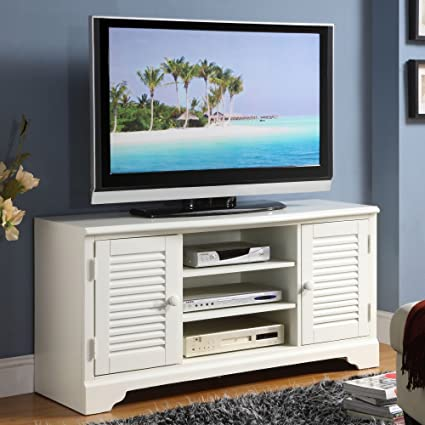 Riverside Splash of Color 50 in. TV Console - Shores White