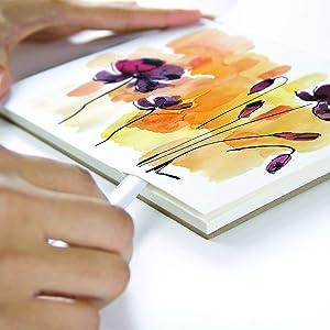 Speedball Art Products 811218 Fluid 100 Artist Watercolor Paper 140 lb Cold Press, 9 x 12 Block, 100% Cotton Natural White (Color: 100% Cotton Natural White, Tamaño: 9 x 12 BLOCK)