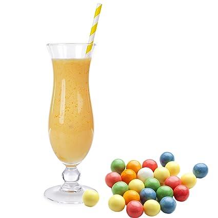 Bubble Gum Gelb Geschmack Eiweißpulver Milch Proteinpulver Whey Protein Eiweiß L-Carnitin angereichert Eiweißkonzentrat fur Proteinshakes Eiweißshakes Aspartamfrei (10 kg)