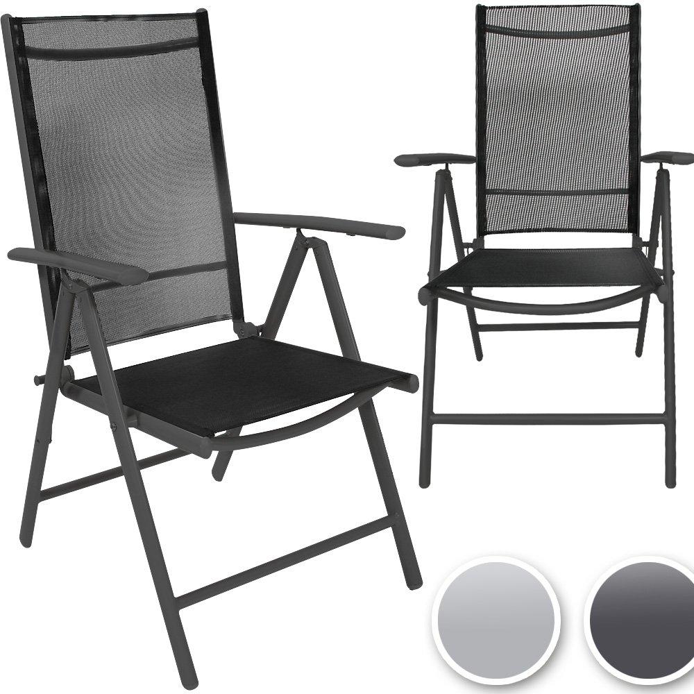 Miadomodo Gartenstuhl-Set Alustühle Klappstühle mehrfach neigbare Rückenlehne aus Aluminium mit Modell-, Farb- und Setwahl
