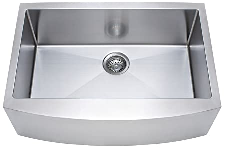 FrankeUSA FFS30B-10-18 Single Bowl Farmhouse Kitchen Sink, Stainless Steel