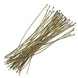 Beadaholique HP20/200AB 50-Piece Head Pins, 24-Gauge, 2-Inch, Antiqued Brass