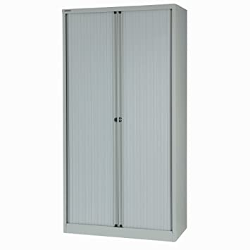 Jemini Side-Opening Tambour Unit Height: 78 inches Grey