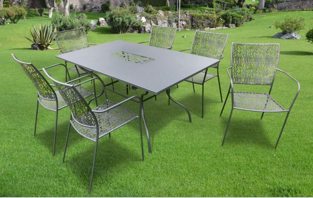 """7-teilige Luxus Gartenmöbelgruppe """"Algiri schwarz"""" aus dem Hause Landmann Belardo jetzt bestellen"""