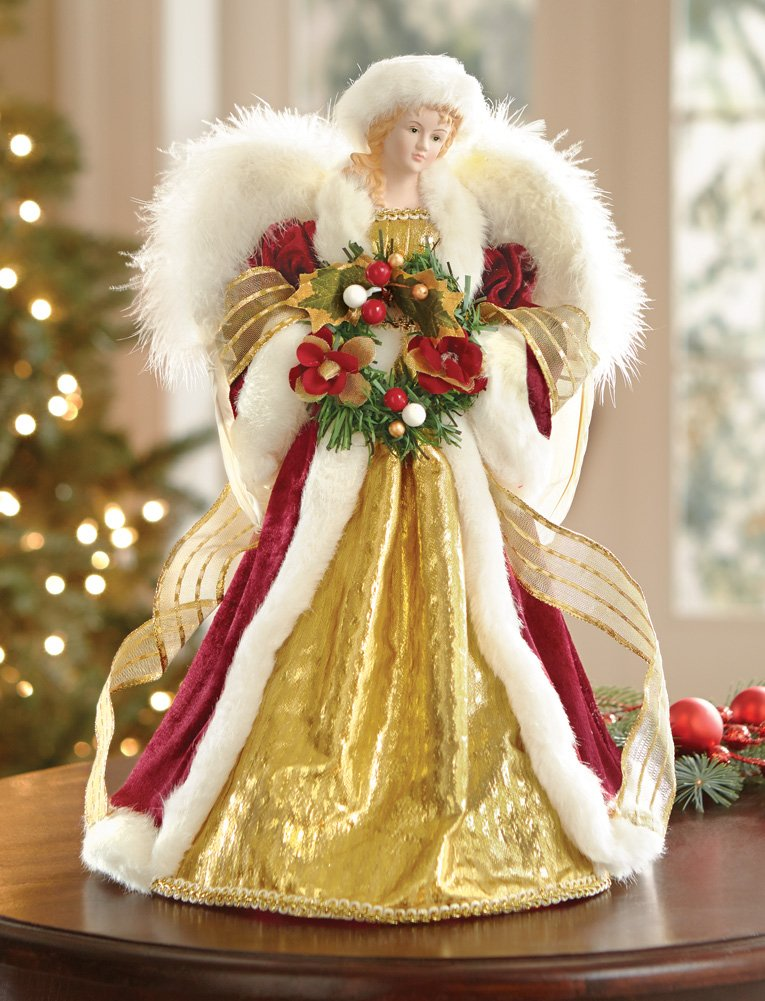Angel unlit tree toppers christmas wikii for Angel of the north christmas decoration