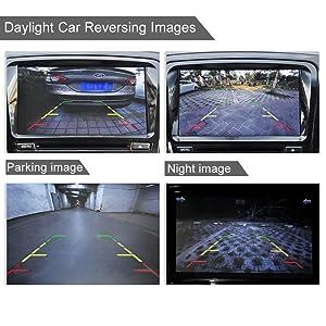 Misayaee Rear View Back Up Reverse Parking Camera in License Plate Lighting Night Version (NTSC) for Mini cooper R50 R52 R53 R56/X3 X5 X6 E53 E70 E71 E72 E83 X1 E84
