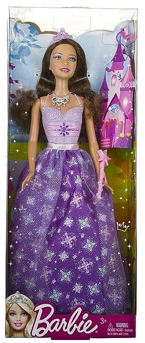 Barbie - W2858 - Teresa - Poupée - pourpre Fée Fairytale Robe - - Mattel