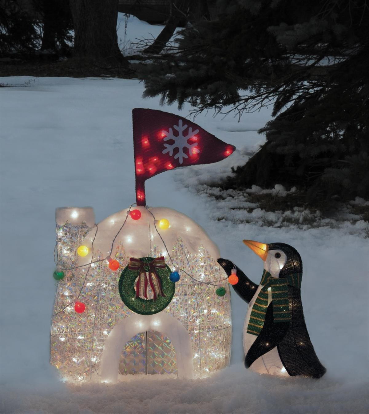 Christmas penguin lighted yard displays christmas wikii for Outdoor christmas yard decorations