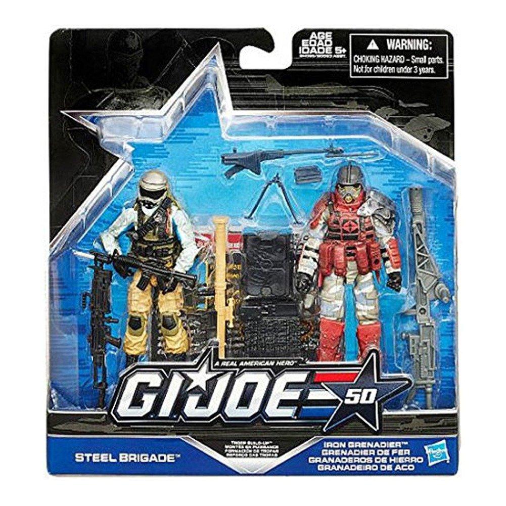 G.I. Joe Steel Brigade vs. Iron Grenadier – Troop Build Up – 50th Anniversary 2015 – Actionfiguren Set von Hasbro günstig bestellen